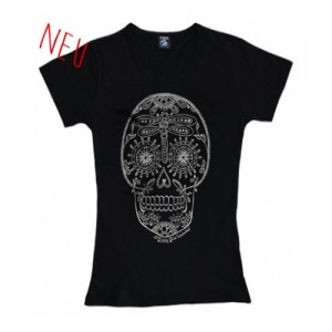 "Voodoobeat – T-Shirt ""Sugarskull"" Girls"
